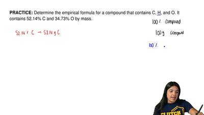 Determine the empirical formula for a compound that contains C, H, and O. It c...