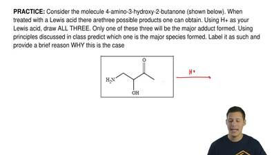 Consider the molecule 4-amino-3-hydroxy-2-butanone (shown below). When treated...
