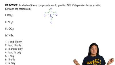In which of these compounds would you find ONLY dispersion forces existing bet...