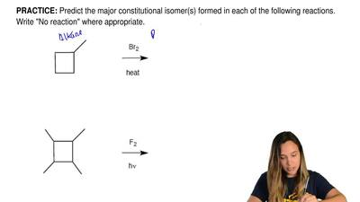 Predict the major constitutional isomer(s) formed in each of the following rea...