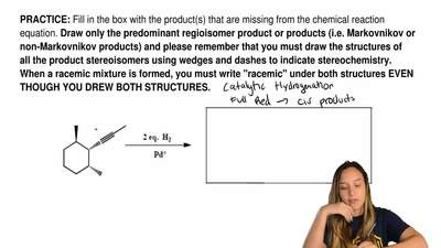 Fill in the box with the product(s) that are missing from the chemical reactio...