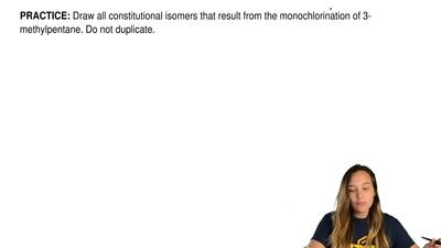 Draw all constitutional isomers that result from the monochlorination of 3-met...