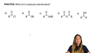 Which isn't a carboxylic acid derivative? ...
