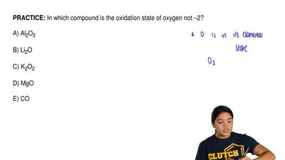 In which compound is the oxidation state of oxygen not –2?       A) Al2O3     ...