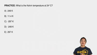 What is the Kelvin temperature at 24°C?  A) 249 K    B) 11.4 K    C) -2...