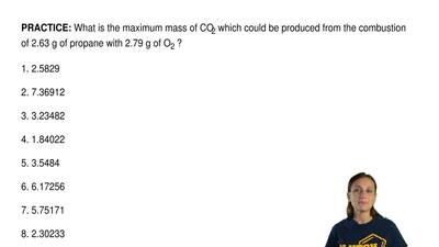 What is the maximum mass of CO2 which could be produced from the combustion of...