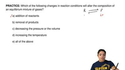 Which of the following changes in reaction conditions will alter the compositi...