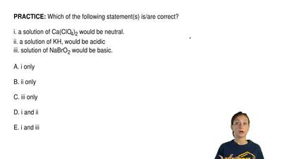 Which of the following statement(s) is/are correct?  i. a solution of Ca(ClO4)...