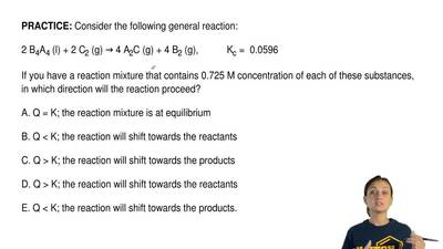 Consider the following general reaction:  2 B4A4 (l) + 2 C2 (g) → 4 A2C (g) + ...