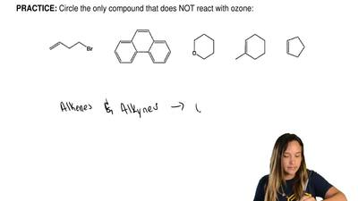Circle the only compound that does NOT react with ozone: ...