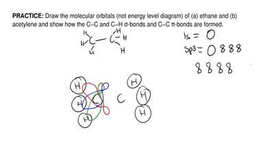 Draw the molecular orbitals (not energy level diagram) of (a) ethane and (b) a...