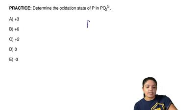 Determine the oxidation state of P in PO33-.  A) +3  B) +6  C) +2  D) 0  E) -3...