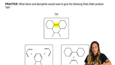What diene and dienophile would react to give the following Diels-Alder produc...