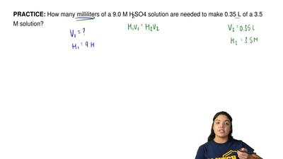 How many milliliters of a 9.0 M H 2SO4 solution are needed to make 0.35 L of a...
