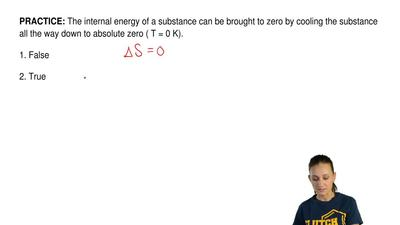 The internal energy of a substance can be brought to zero by cooling the subst...