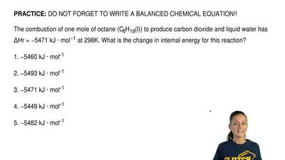 DO NOT FORGET TO WRITE A BALANCED CHEMICAL EQUATION!!  The combustion of one m...