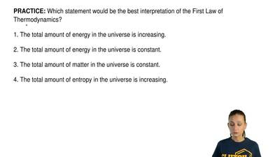 Which statement would be the best interpretation of the First Law of Thermodyn...