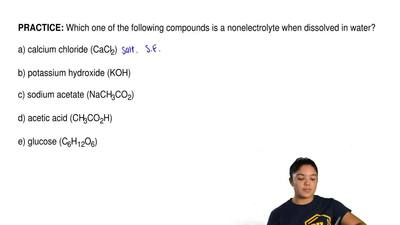 Which one of the following compounds is a nonelectrolyte when dissolved in wat...