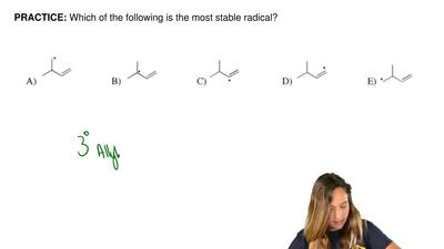 Which of the following is the most stable radical?    ...