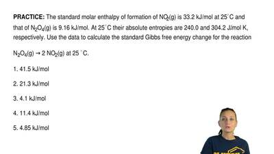 The standard molar enthalpy of formation of NO2(g) is 33.2 kJ/mol at 25◦C and ...