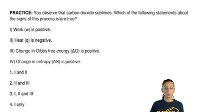 You observe that carbon dioxide sublimes. Which of the following statements ab...