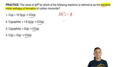 The value of ∆H0 for which of the following reactions is referred to as the st...