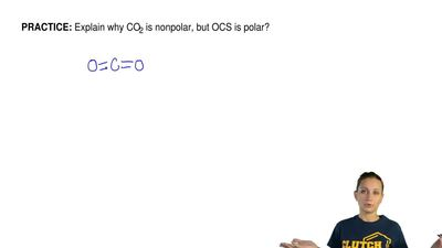 Explain why CO2 is nonpolar, but OCS is polar? ...