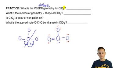 What is the VSEPR geometryfor CIO3-? _________________ What is the molecular ...