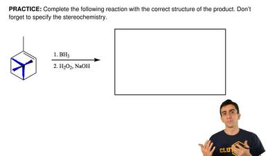 Complete the following reaction with the correct structureof the product. Don...