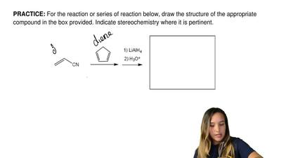 For the reaction or series of reaction below, draw the structure of the approp...