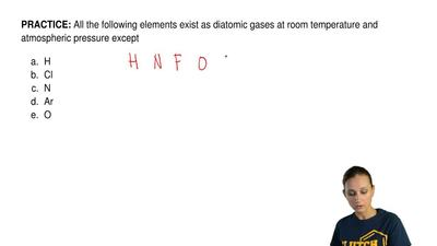 All the following elements exist as diatomic gases at room temperature and atm...
