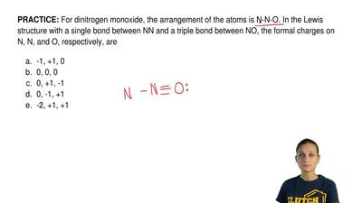 For dinitrogen monoxide, the arrangement of the atoms is N-N-O. In the Lewis s...
