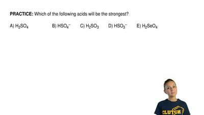 Which of the following acids will be the strongest?       A) H2SO4            ...