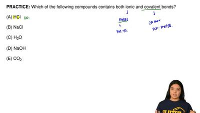 Which of the following compounds contains both ionic and covalent bonds?  (A) ...