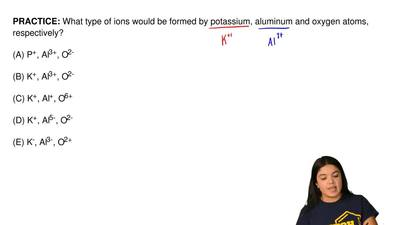 What type of ions would be formed by potassium, aluminum and oxygen atoms, res...