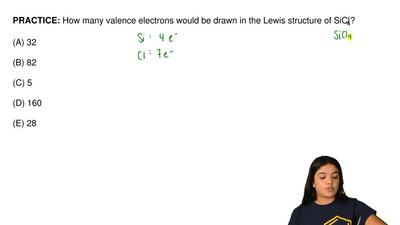 How many valence electrons would be drawn in the Lewis structure of SiCl 4?  (...