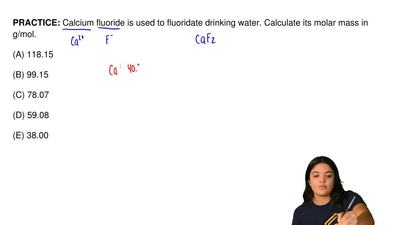Calcium fluoride is used to fluoridate drinking water. Calculate its molar mas...
