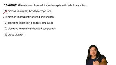 Chemists use Lewis dot structures primarily to help visualize:  (A) protons in...