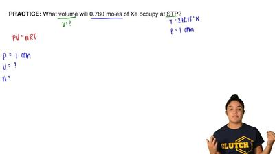 What volume will 0.780 moles of Xe occupy at STP? ...