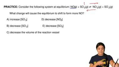 Consider the following system at equilibrium: NO(g) + SO 3(g) ⇌ NO2(g) + SO...