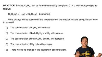 Ethane, C 2H 6, can be formed by reacting acetylene, C 2H 2, with hydrogen gas...
