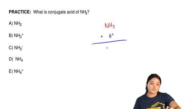 What is conjugate acid of NH3?  A) NH2                   B) NH2+             ...