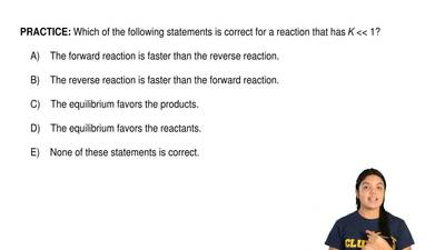 Which of the following statements is correct for a reaction that has K <&l...