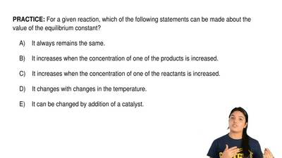 For a given reaction, which of the following statements can be made about the ...