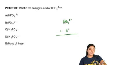 What is the conjugate acid of HPO 4 2−?  A) HPO 4 2−  B) PO 4 3−  C) H 3PO 4  ...