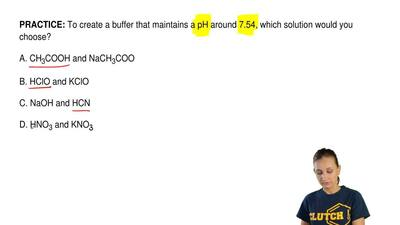 To create a buffer that maintains a pH around 7.54, which solution would you c...
