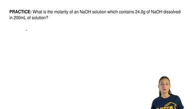 What is the molarity of an NaOH solution which contains 24.0g of NaOH dissolve...