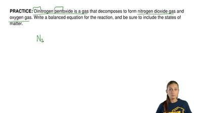 Dinitrogen pentoxide is a gas that decomposes to formnitrogen dioxide gas and...