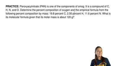 Peroxyacylnitrate (PAN) is one of the components of smog. It is a compound of ...