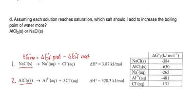 Consider the following reactions for dissolving two different chloride salts i...